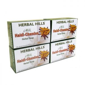 Herbalhills Prime Milk Chandan turmeric Soap 4 Pack