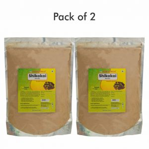 Shikakai Powder - 1 kg Pack - Pack of 2