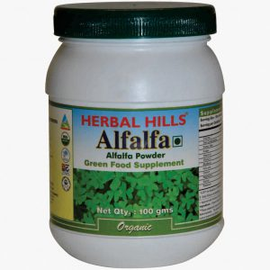 Organic Alfalfa Powder 100 Gms - Green Food Supplement