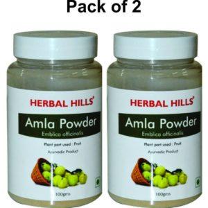 Herbalhills Prime Amla Powder Pakc of 2