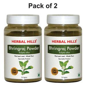 Herbalhills Prime Bhringraj Powder Pack of 2