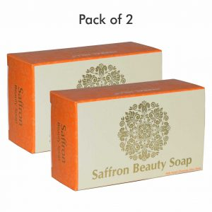 Natural Skin Care - Saffron Soap - 100gms (Pack of 2)