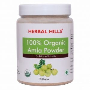 Herbal Hills Organic Amla Powder - 200 gms - Antioxidant, Digestion