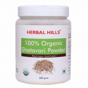 Herbal Hills Organic Shatavari Powder - 200gms Tonic for women