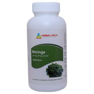 Moringa 120 Tablets | Herbal Hills moringa oleifera tablets | 500 mg Moringa leaves powder | 120 Tablets