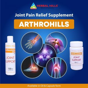 Ayurvedic Basket for Knee Joint Pain Relief - Arthrohills 30 Soft Capsule & 100ml Oil
