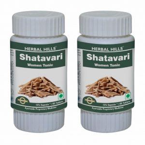 Herbal Hills Shatavari 60 Tablets Pack of 2