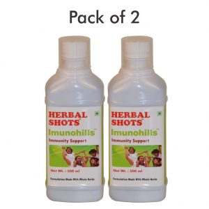 Immunity Booster Syrup - Imunohills Herbal Shots 500ml (Pack of 2)
