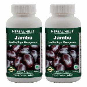 Herbal Hills Jambu 120 Tablets Pack of 2