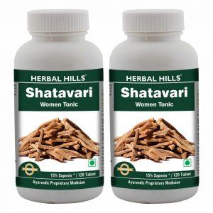 Herbal Hills Shatavari 120 Tablets Pack of 2