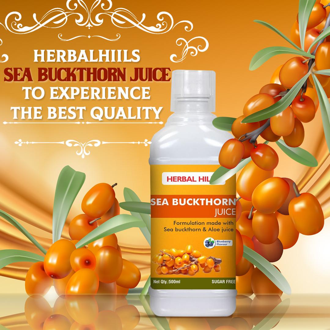 Herbalhiils sea buckthorn juice