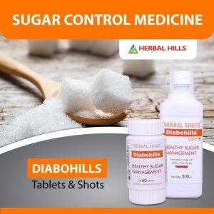 Ayurvedic Basket for Sugar Control ( Diabohills 60 Tablets, Diabohills Herbal Shots 500ml )
