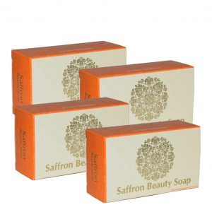 Natural Skin Care - Saffron Soap - 100gms (Pack of 4)