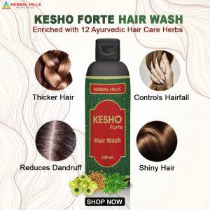 Kesho Forte Hair Wash 200ml - Best Ayurvedic Hair Wash Shampoo
